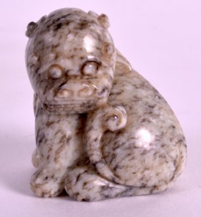 A 19th Century Chinese Carved Mutton Jade Figure Of A
