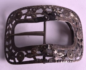 A 19th Century Dutch Silver Buckle Decorated With