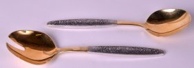 A Pair Of Russian Federaton Salad Servers.