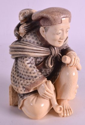An Early 20th Century Japanese Meiji Period Carved