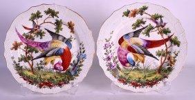 A Pair Of Mid 19th Century Samsons Of Paris Lattice