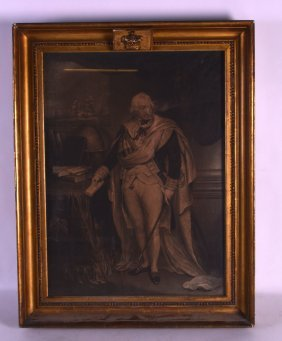 A Framed 19th Century Engraving Of Nelson Modelled