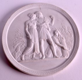 A 19th Century Royal Copenhagen Parian Ware Plaque