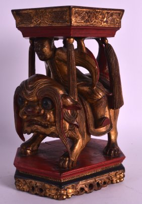 An Unsusual 19th Century Polychromed Carved Wood