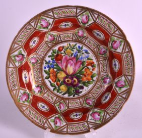 An Early 19th Century Coalport Plate Painted With The