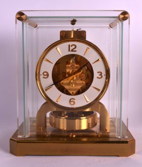 A Good Boxed Jaejar Le Coultre Atmos Clock No. 119227.