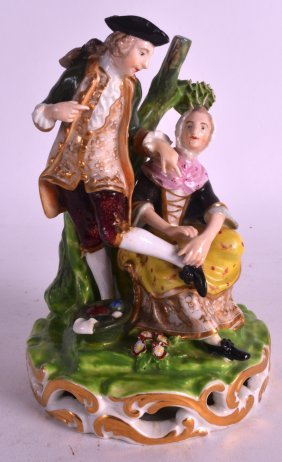 An Early 19th Century Derby Figure Depicting The Shoe
