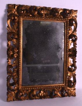 An 18th/19th Century Italian Florentine Giltwood Mirror