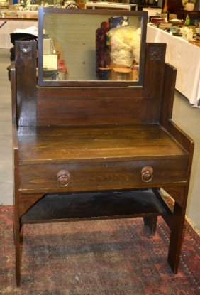 A Glasgow School Arts And Crafts Dressing Table.