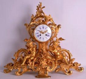 A Good Mid 19th Century French Ormolu Mantel Clock Of