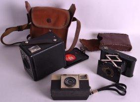 An Unusual Vintage Vest Pocket Kodak Together With Two