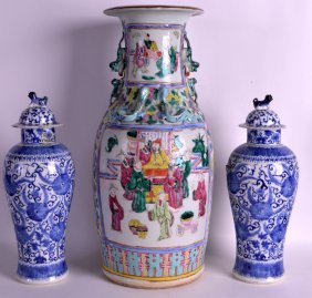 A 19th Century Chinese Canton Famille Rose Vase