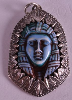 An Early 20th Century Egyptian White Metal And Carved