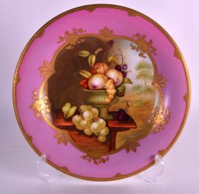 A Mid 19th Century English Porcelain Cabinet Plate