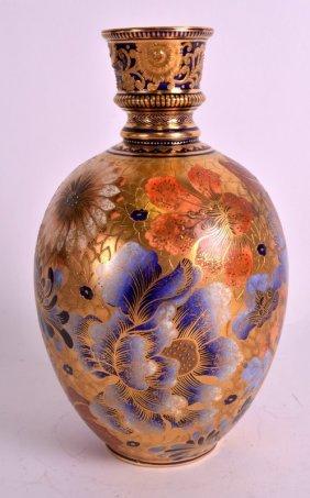 A Rare Royal Crown Derby Porcelain Vase Of Islamic