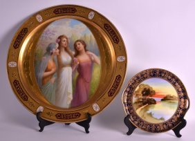 A Fine Late 19th Century Vienna Porcelain Charger Of