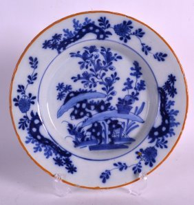 An 18th Century Delft Tin Glazed Dutch Dish Painted