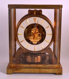 A Jaegar Le Coultre Atmos Clock No. 95300. 9ins High.