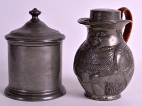 An Unusual Early 20th Century Pewter Figural Jug