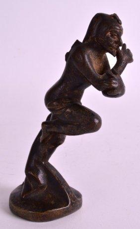 A Rare 19th Century French Bronze Car Mascot Signed M