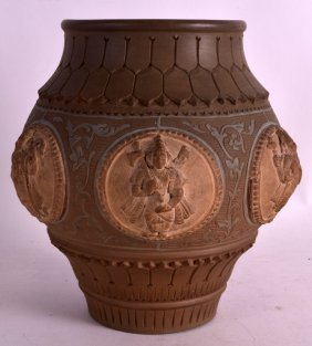 An Unusual 19th Century Indian Stoneware Vessel