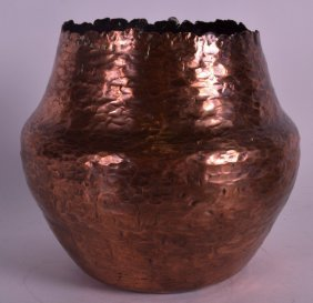 An Unusual Arts And Crafts Style Copper Vase By Robert