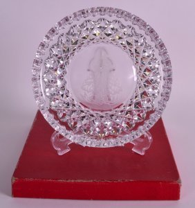 A Boxed Waterford Crystal 'christmas Dish'. 8ins