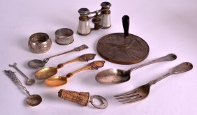 An Early 18th Century Silver Spoon Together With A