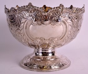 A 19th Century Sheffield Silver Plated Fruit Bowl By