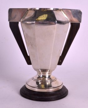 A 1920s Continental Silver Twin Handled Trophy With