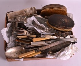 A Large Quantity Of Antique Silver Plated Items