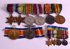 A Collection Of Wwi Medals Presented To Both Lieut L S