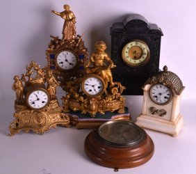 A Late 19th Century French Gilt Metal Mantel Clock