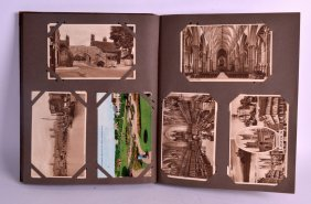 A Postcard Album Containing Over 140 Examples, Mostly