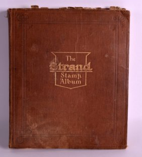 A Strand Stamp Album Containing Stamps From Various