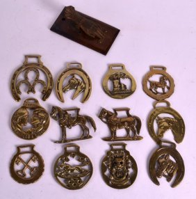 A Quantity Of Horse Brasses Together With A Victorian