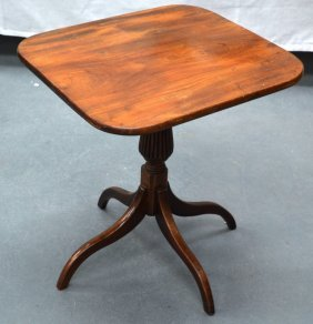 A Late 19th Cetury Sheraton Rosewood Low Candle Table.
