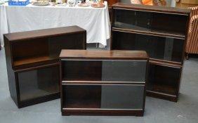 A Set Of Three Retro Bookcases. (3)