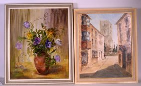 Three Oil On Boards, 20th Century, Various Artists. (3)