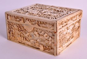 A Good Early 19th Century Chinese Carved Canton Ivory