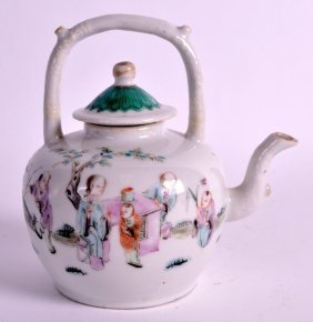 A Late 19th Century Chinese Famille Rose Teapot And