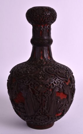 A Late 19th Century Chinese Cinnabar Lacquer Garlic
