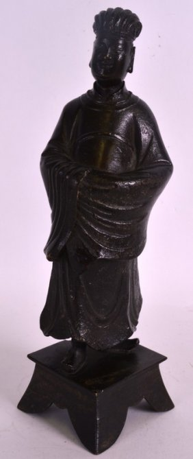 A Good Chinese Yuan/ming Dynasty Bronze Figure Of An