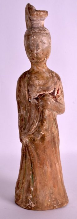 A Chinese Han Dynasty Tomb Figure Of A Female Modelled
