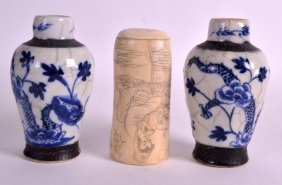 A Pair Of Late 19th Century Chinese Blue And White