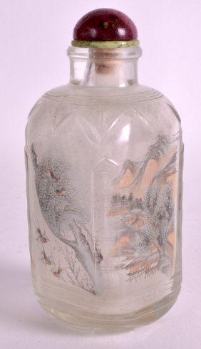 A Large Late 19th Century Chinese Rectangular Glass