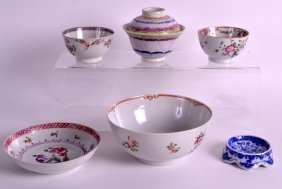 An Early 18th Century Chinese Famille Rose Lotus Bowl