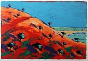"""Serigraph """"north Hill"""" After Paul Powis"""