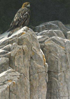 ROBERT BATEMAN, Upon The Crag - Golden Eagle, 2007