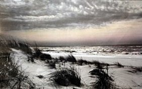 """Offset Lithograph """"warm Skies"""" After Harold Silverman"""